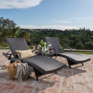 patio furniture sets peyton reclining chaise lounger set UBNYZYN