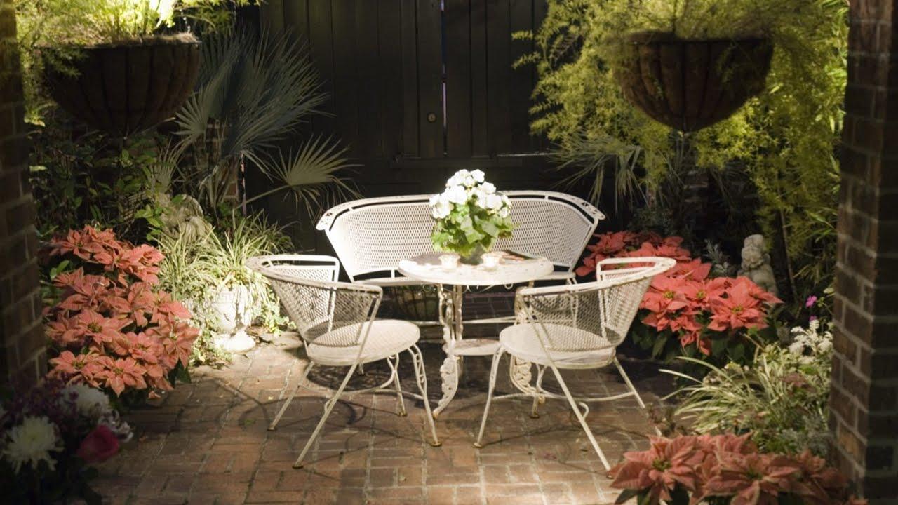 patio garden turn your small patio into a beautiful garden - youtube ULQIHXM