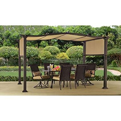 patio gazebo steel pergola gazebo 12u0027 x 10u0027 outdoor patio shelter RSTSIYD