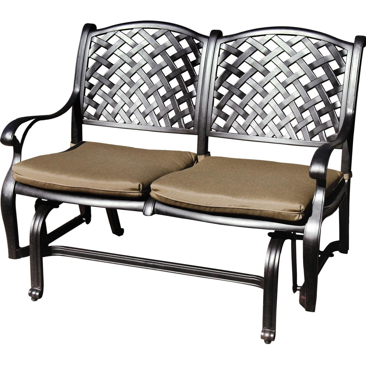 patio glider darlee nassau cast aluminum patio bench