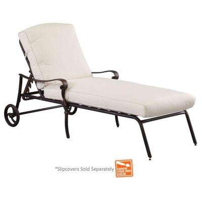 patio lounge chairs edington cast back adjustable patio chaise lounge ... ZRZTJPW