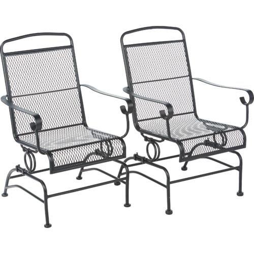 patio rocking chairs amazon.com : outdoor steel mesh patio rocking chair set : garden u0026 JWHGCZV