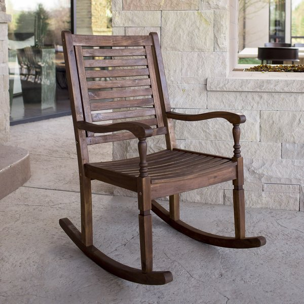 patio rocking chairs three posts zinnia solid acacia wood patio rocking chair u0026 reviews | GMGORXN