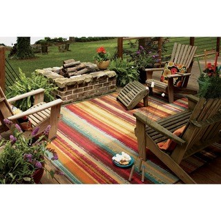 patio rug indoor/outdoor metro stripe rug (8u0027 x ... MWLTIIK