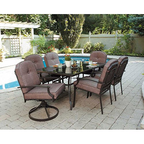 patio sets amazon.com: 7 piece patio dining set, seats 6. enjoy the outdoors with BTIDIGY