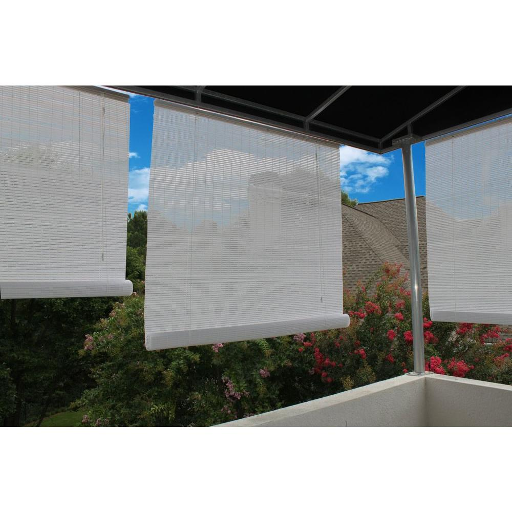 patio shades l white exterior roll up patio sun shade GFOFQAN