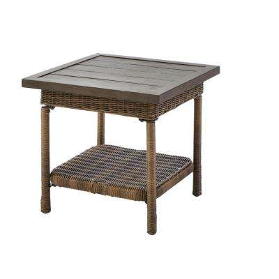 patio side table beacon park steel wicker outdoor accent table YTIEXHT