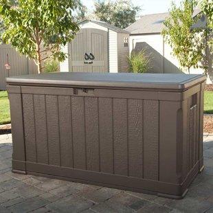 patio storage plastic deck storage box OFQKLLG