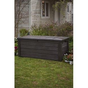 patio storage westwood 150 gallon resin box GFJMFWN
