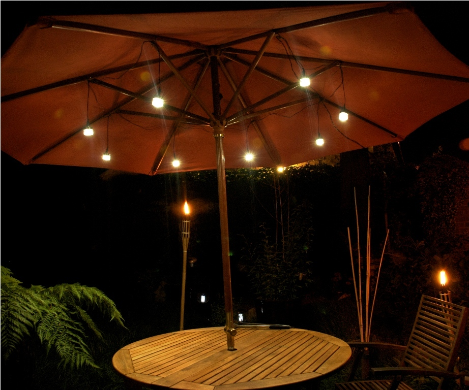 Patio Umbrella Lights Innovative With Led Dkgxhot