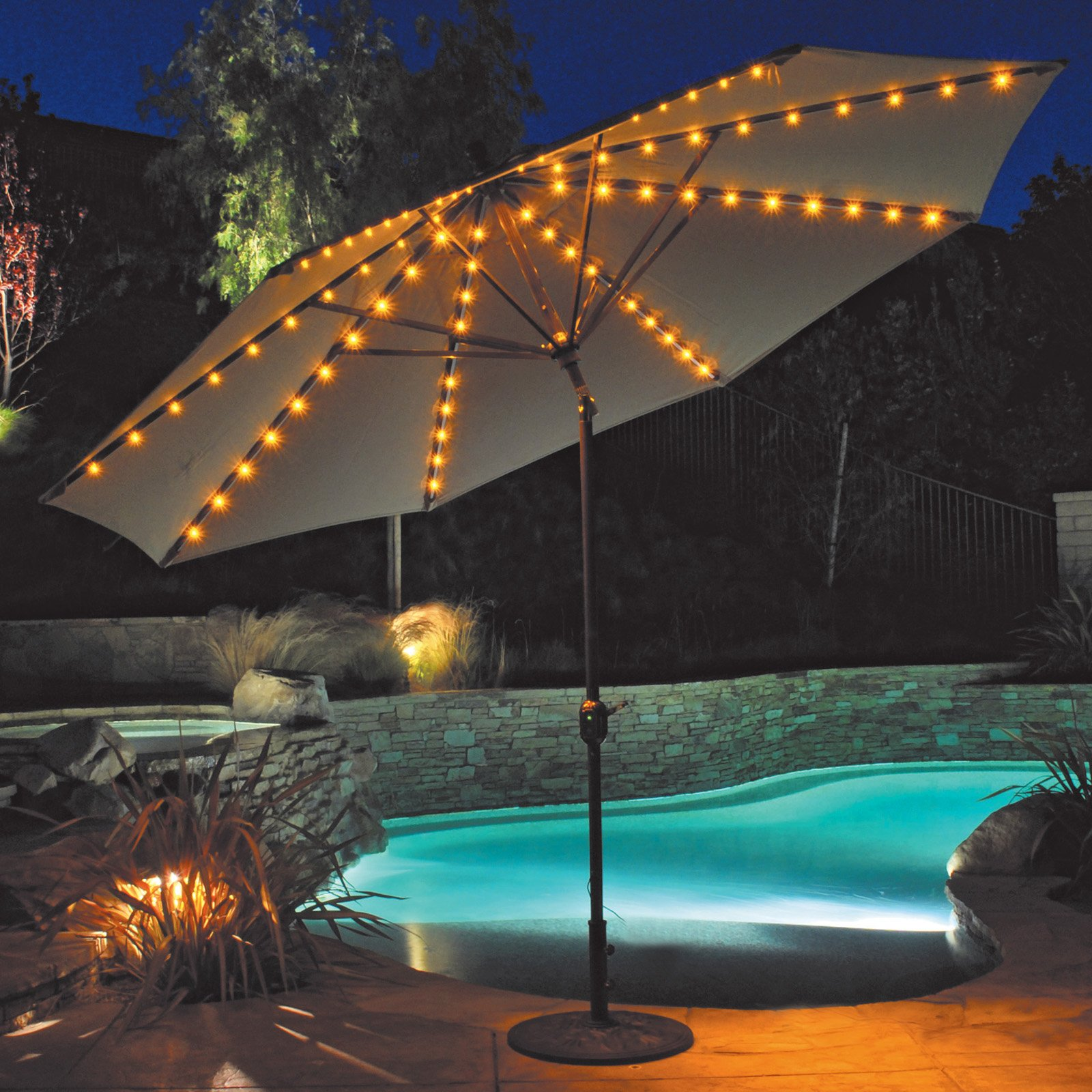patio umbrella lights outdoor light for target outdoor umbrella lights and endearing battery  powered KHRQNQS
