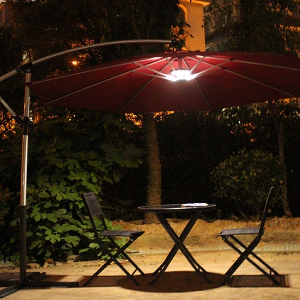 patio umbrella lights outdoor patio umbrella light review - youtube FAGCZIH