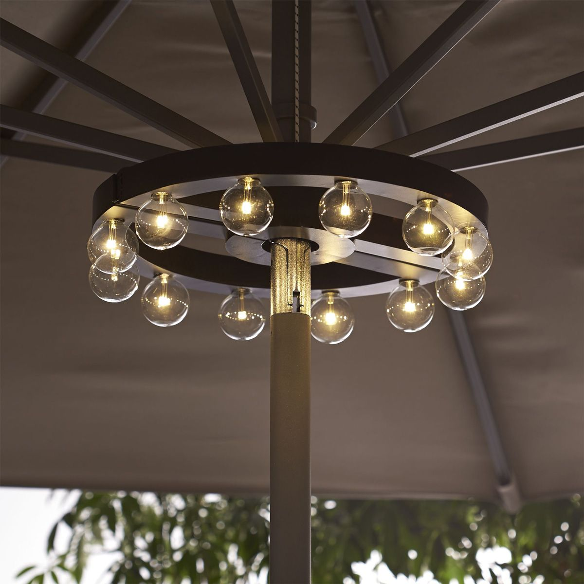 patio umbrella lights patio umbrella marquee lights - the green head JUKICNQ