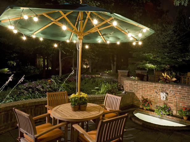 patio umbrella lights the 11 best diy outdoor lighting ideas EKETWRA