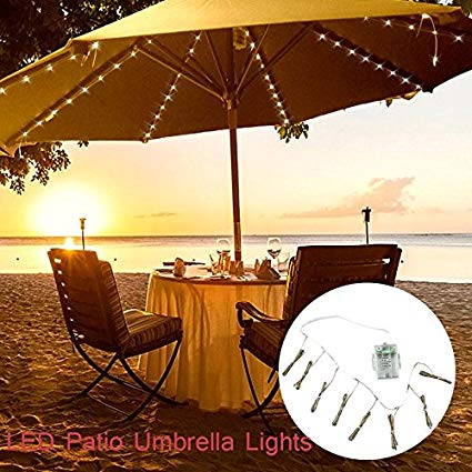 patio umbrella lights umbrella string lights, battery operated string lights for outdoor patio  umbrella, EWIRKBO