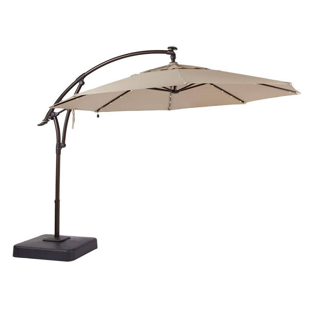 patio umbrellas led offset patio umbrella in sunbrella sand NOTJCTB