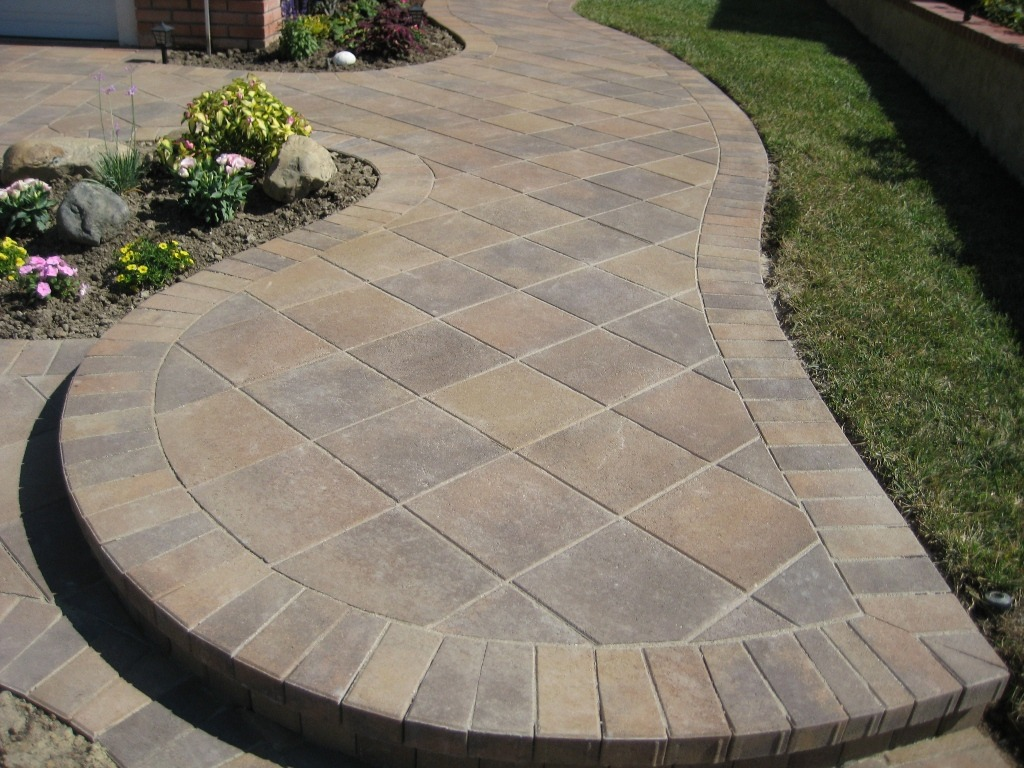 paver patio ideas 45 degree laying pattern (paver