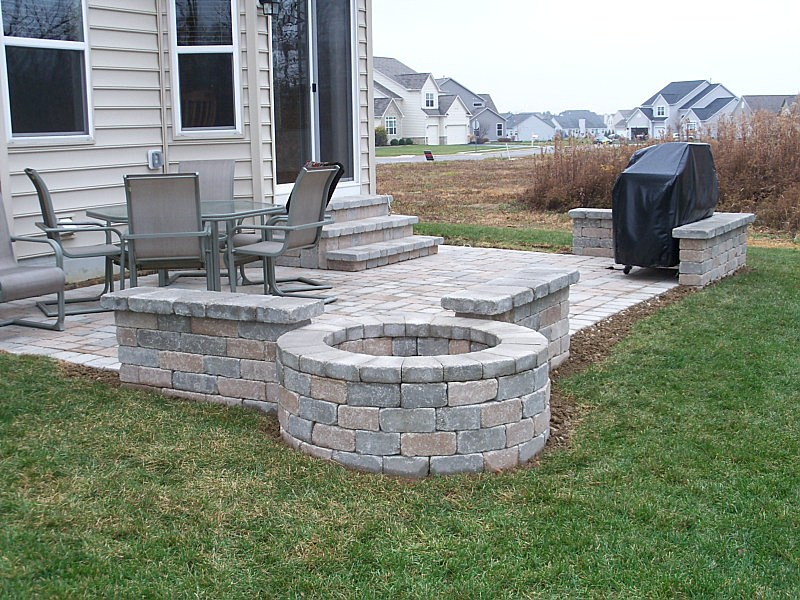 paver patio ideas collection in simple patio ideas