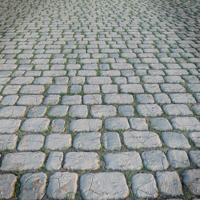 paving stone 3d model low-poly max obj fbx 1 ... LBJRELW