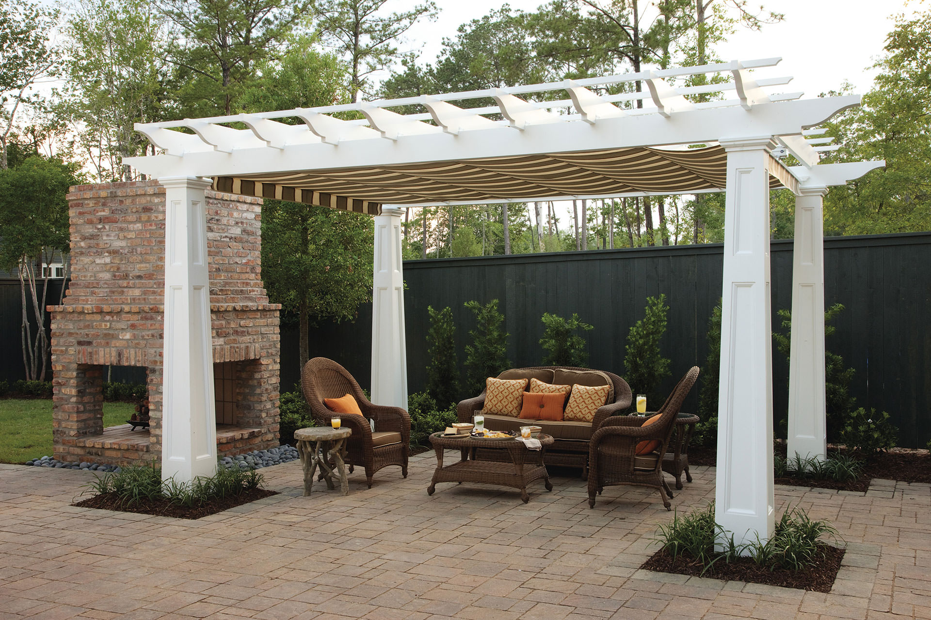 pergola canopy in southern living idea house | shadefx canopies BLSRHXX