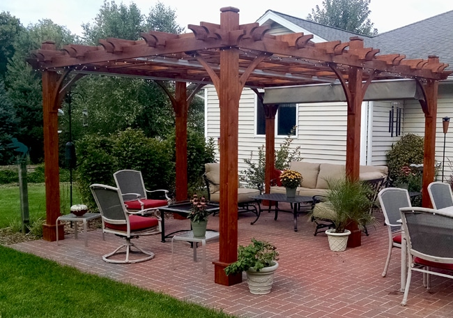 pergola canopy - with retractable canopy 12 x 16 IJTUCCJ