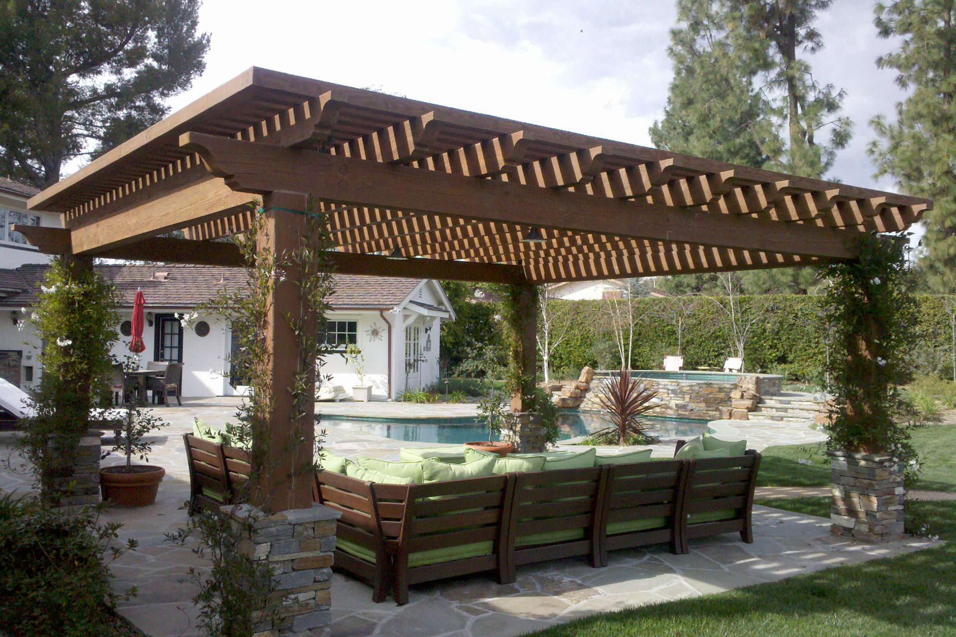 pergola covers pergola roof ideas: what you need to know | shadefx canopies KZKYSRB