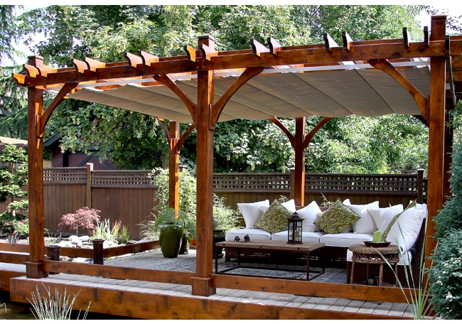 pergola covers - with retractable canopy 12 x 20 OHCSGDT