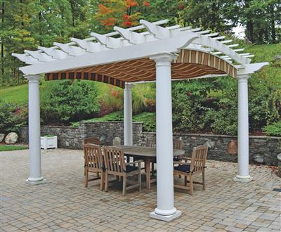 pergola kits arched top freestanding shade pergola kit with round columns from walpole KBVMERQ