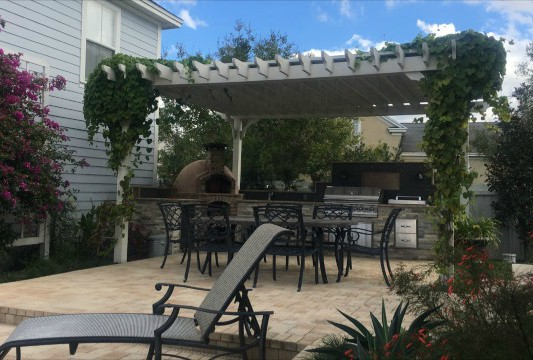 pergola kits freestanding big kahuna painted ZXZVKSW