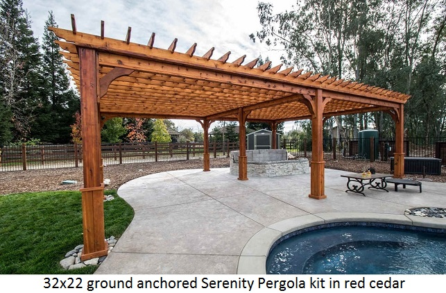 pergola kits ground-anchored-pergola-western-red-cedar-wood-32x22. DUKRJIK