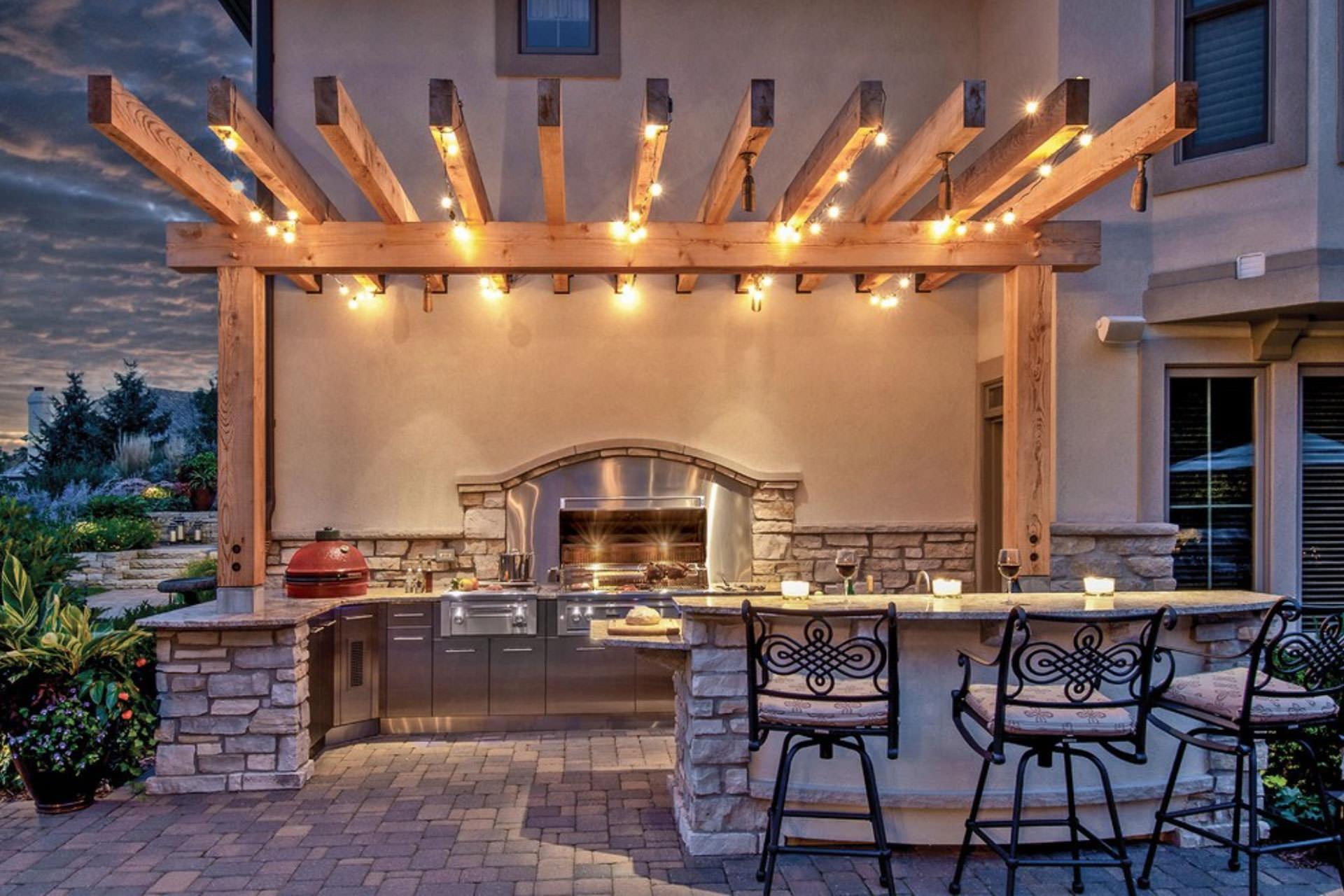 pergola lighting danver stainless outdoor kitchens EZRPOUK