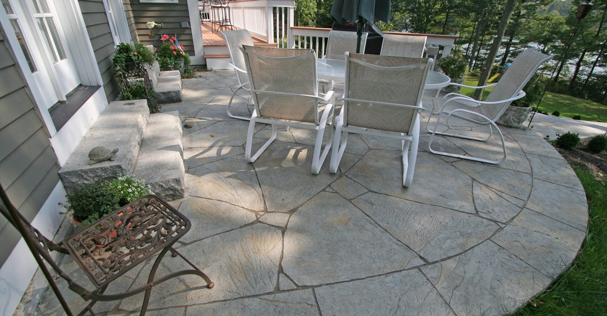 photo of backyard cement patio ideas concrete patio photos design ideas and NBJCZHN