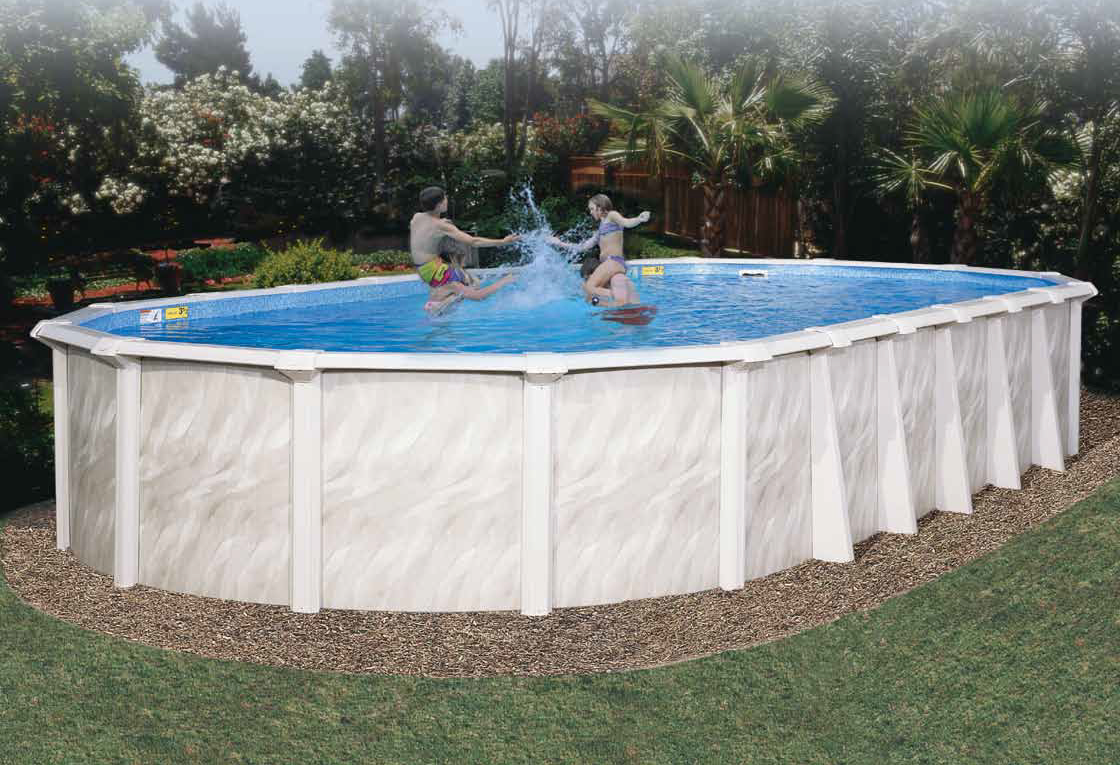 Picture of deluxe summer serenade above ground pool - How to build an above ground pool ...