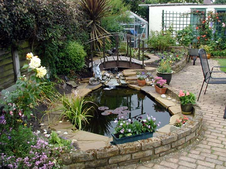 picture of how to make a garden pond GWUGDFJ