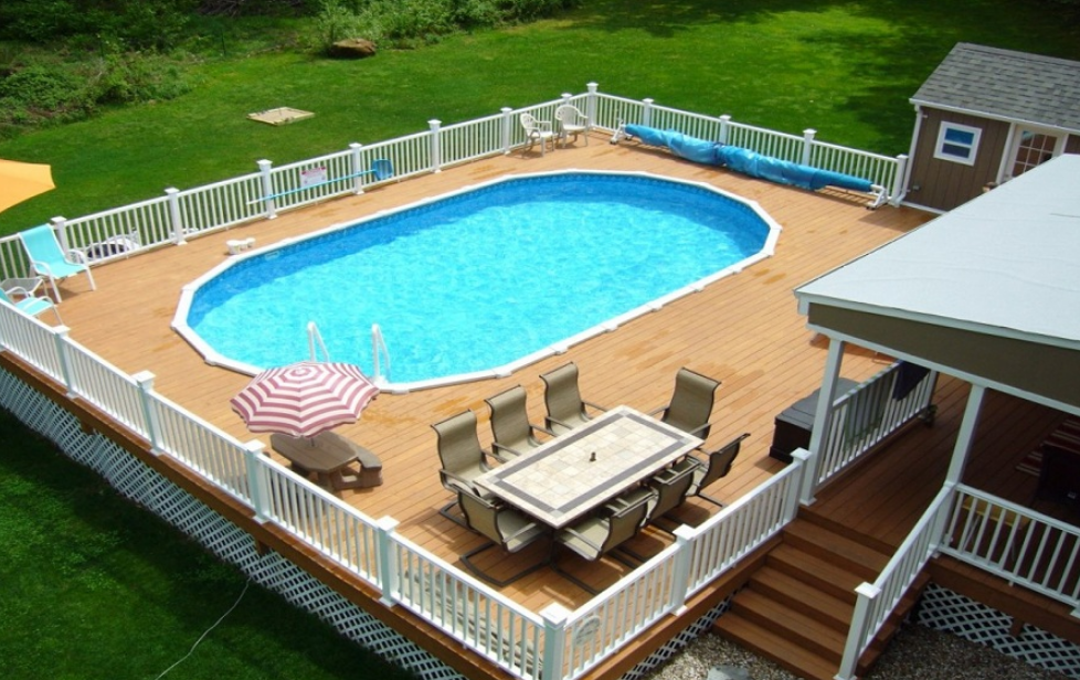 pictures of above ground pools with decks VBLFRVS