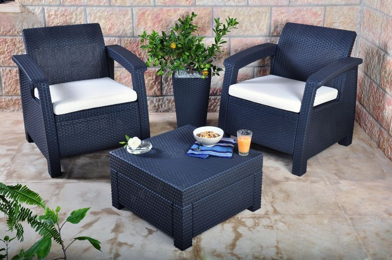 plastic garden furniture keter corfu 2 seater balcony