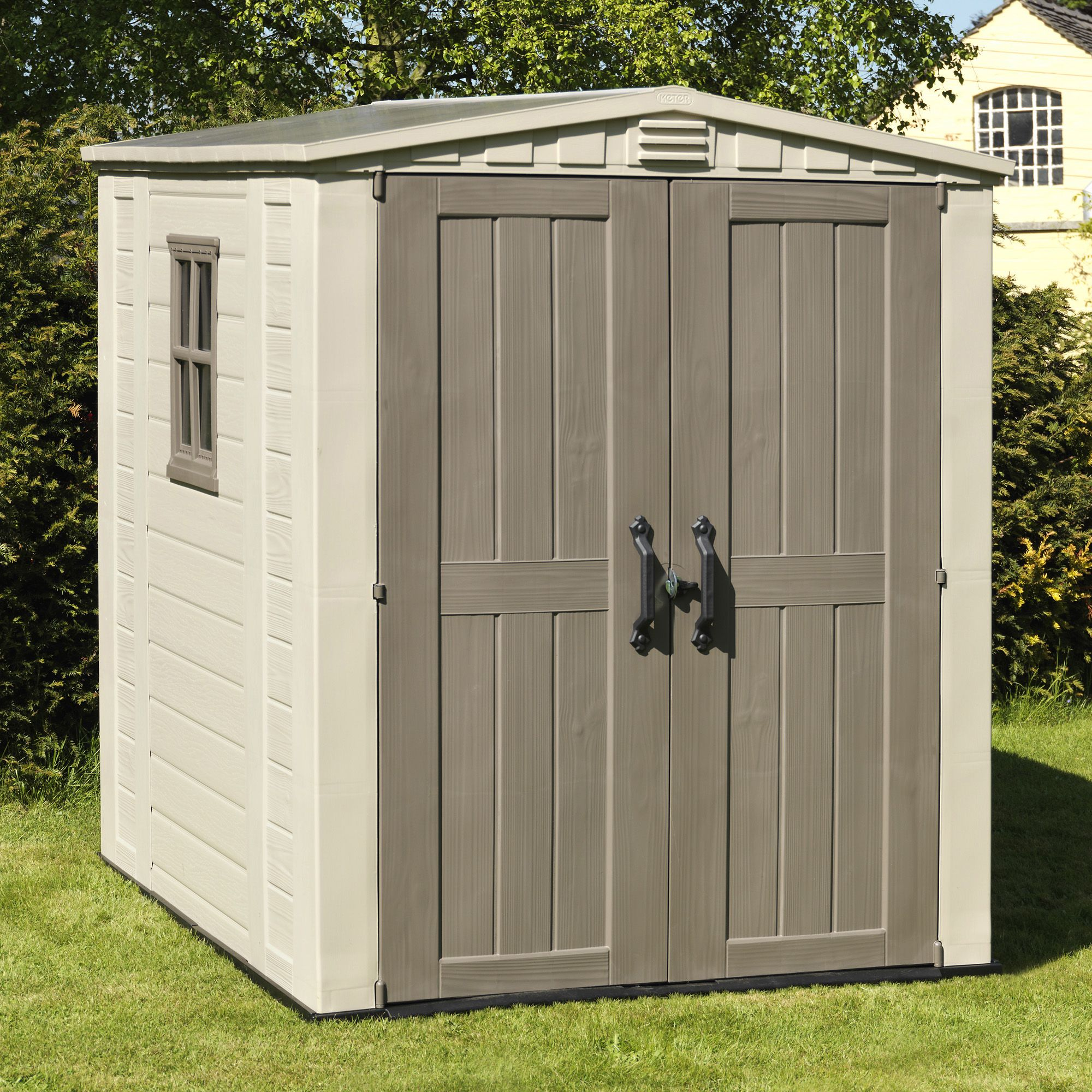 plastic garden shed 6x6 factor apex plastic shed | departments | diy at bu0026q DNGWUPJ