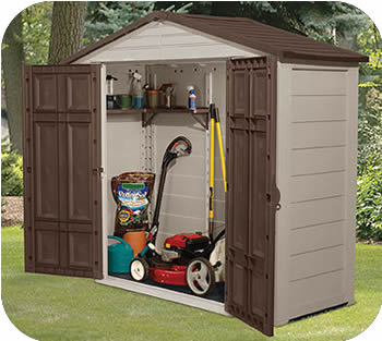 plastic garden shed suncast 8x3 resin plastic storage shed w/ floor QNEYECA