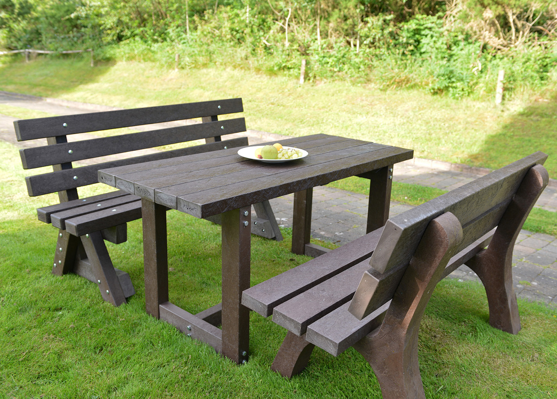 plastic garden table recycled plastic garden furniture sets DPEZKRI