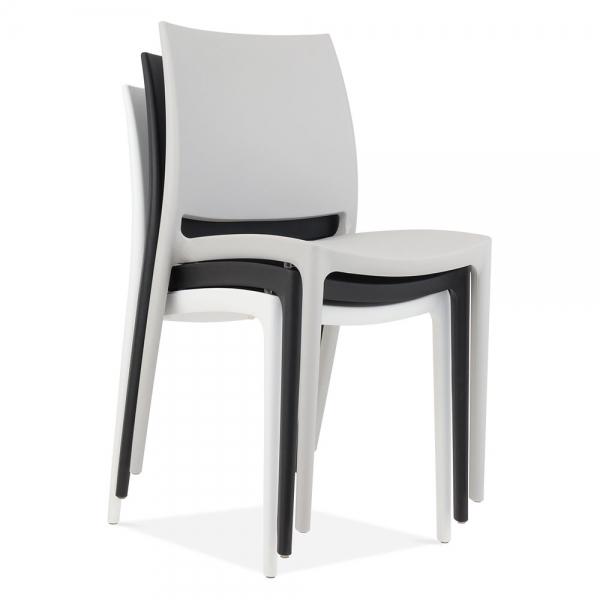 plastic outdoor chairs white eden plastic outdoor chair modern garden  furniture XONYABQ