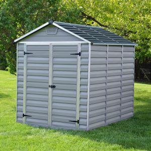 plastic sheds 6u0027x8u0027 (1.8x2.4m) palram grey skylight plastic shed JSBFJJA