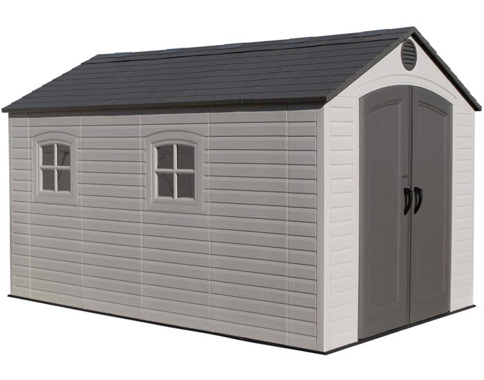 plastic sheds lifetime 8x12 outdoor storage shed kit w/ floor SSYGEDT