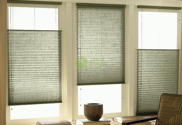 pleated blinds for standard windows, controlled by string - type 15 IVGTQFK