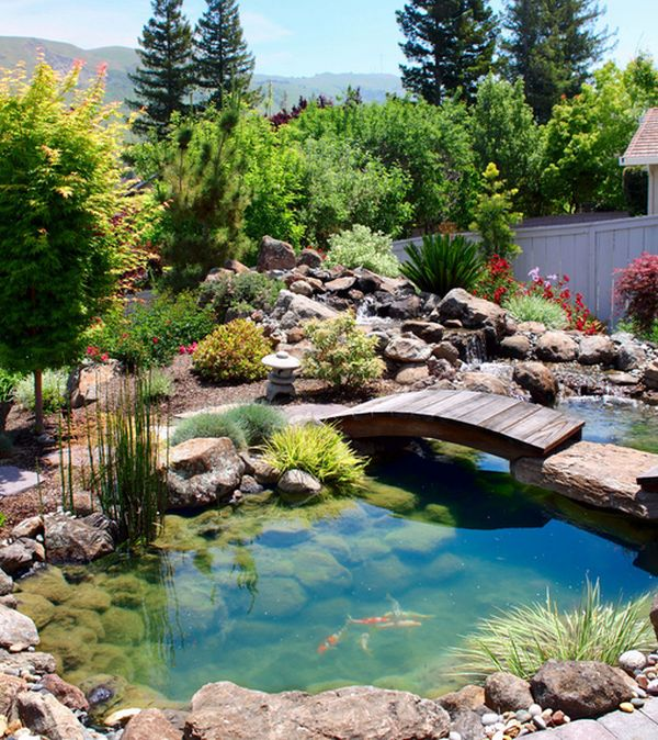 pond design view in gallery custom created bridge above the beautiful koi pond CHAXRBE