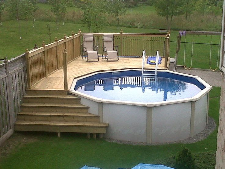 pool deck best above ground pool decks - a how to build diy guide VABCIGI