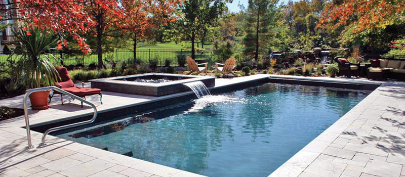 pool design swimming pool with small water fall HCTEDMH