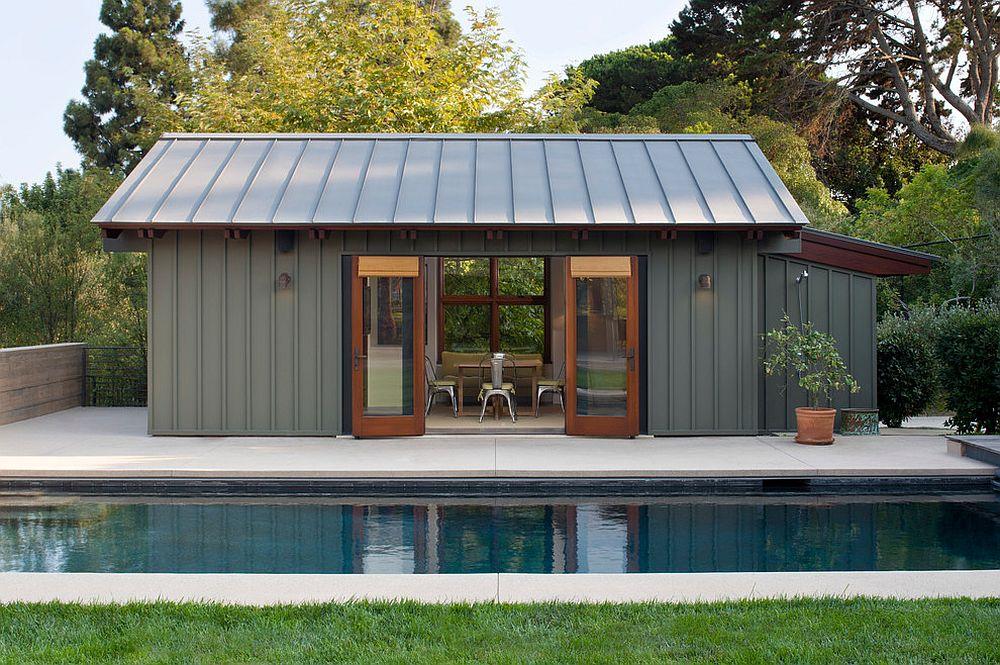 pool house designs ... smart modern pool house in steely gray [design: kaa design] DLIXCMB