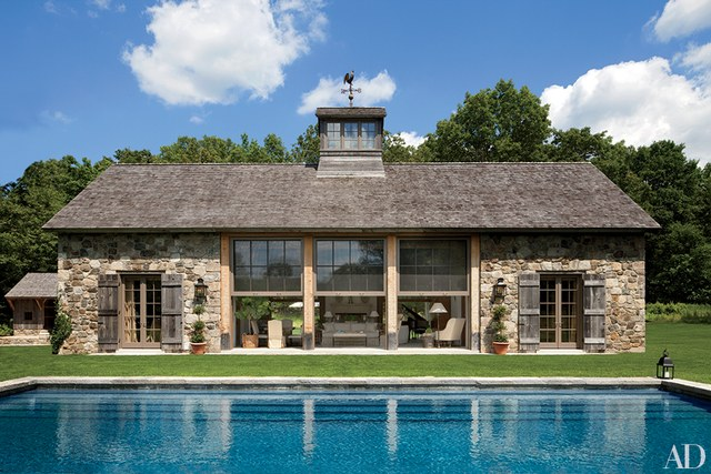 pool house ideas a rustic stone poolhouse PECWMQP