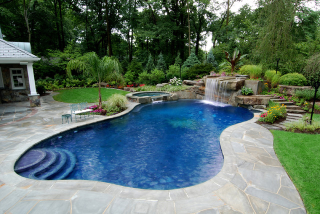 pool landscaping allendale nj - tropical inground swimming pool landscape nj tropical-pool OBPNMGU