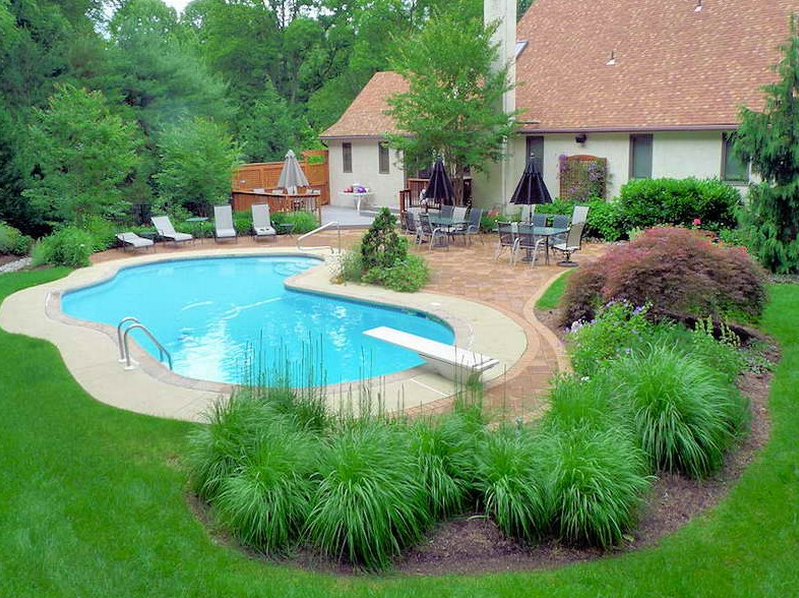 pool landscaping ideas nice idea for inground pool